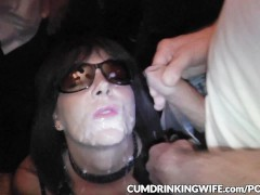 Slutwife Marion loves being a public cum dump