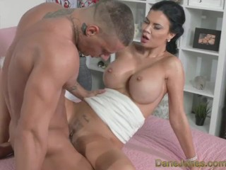 DaneJones Hot big tits Milf shows her young stud how to fuck
