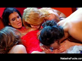 All girl foursome with Natasha Nice, Charley Chase, Sophie Dee, & Sea J Raw main image