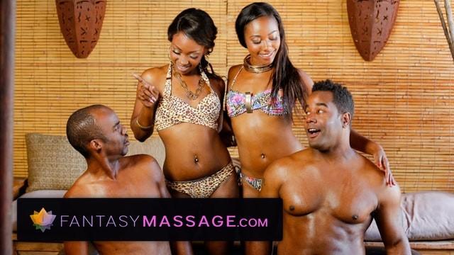 Chanel naked fantasy factory Sensual ebony 4way with nuru massage