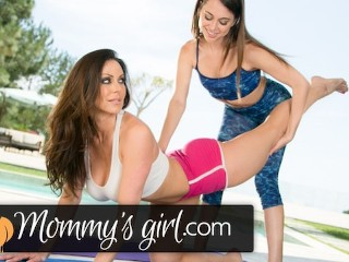 Kendra Lust Scissors Riley Reid at Yoga Class
