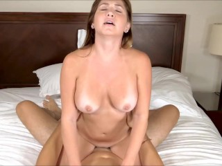 2 busty babes ride gigantic cock 5