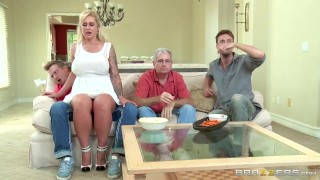 Stepmom takes some young cock  - Brazzers Boobs pornstar