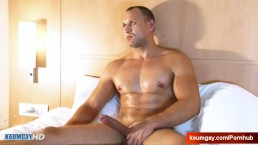 Huge cock gets wanked by us: Igor the male!