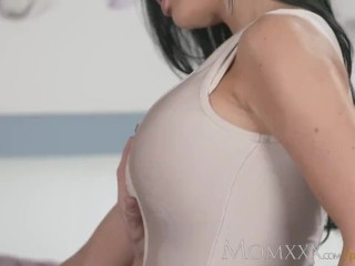 Stunning asian beauty gets her pretty pussy licked by a hot chick then fucks 2