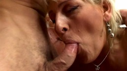 Showering Blonde Mature Surprised And Fucked By Her Stepson