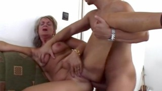 Blonde Mature Mama Arrives Home And Fucks Her Stepson