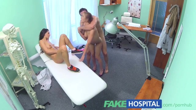 FakeHospital Hot nurse joins couple in threesome