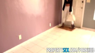 PropertySex - Sizzling hot tenant fucks her landlord at rental showing Small big