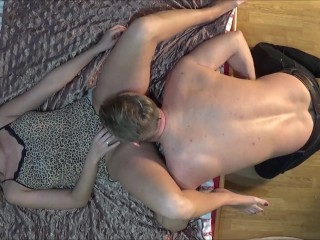 Big Butt Hot Teen Wife. Passionate Real Sex Scene of Amateur Couple.