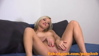 FakeAgent Skinny masseuse gets jizzed on in casting interview
