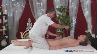 Preview 5 of Massage Rooms Horny model has her perfect 10 body oiled and fucked