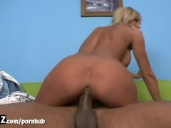 WANKZ - Blonde MILF Goes Wild For Black Dick!