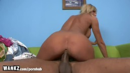 WANKZ - Blonde MILF Goes Wild For Black Dick!