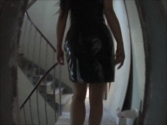 Asian fetish vinyl dress