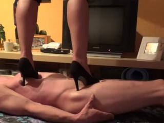 High heel trampling - crushing - 1