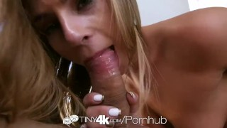 Tiny4K - Sydney Cole gets a dick buried deep in her nice little pussy Cumhot ass
