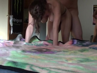 Thin Women Xxx Hard Doggy Style Fucking Filmed With A Standing Cam In Front Cumshot Finish