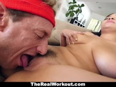 TheRealWorkout - Busty Ebony Fucked By The Fitness Trainer
