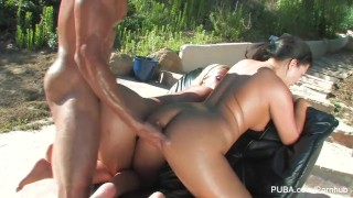 Austin on big carlo's kayme take up themselves cock oil and doggy on