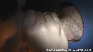 Slutwife is servicing strangers at gloryholes and adult theaters milf wife amateur gloryhole glory hole cumshots swingers cock sucking creampie brunette cuckold doggy style cumdrinkingwife
