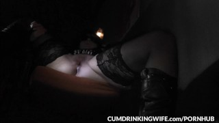 Slutwife is servicing strangers at gloryholes and adult theaters  creampie wife amateur gloryhole cumshots brunette glory hole swingers cumdrinkingwife doggy style milf cuckold cock sucking