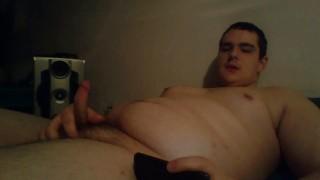 Chubby Cub Eats His Own Cum