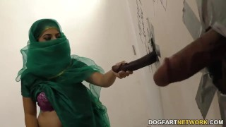 Nadia Ali having fun with black cock in a gloryhole  big cock bbc stripping blowjob gloryhole cumshot pakistani fetish big dick hardcore interracial dogfartnetwork uniform facial big boobs