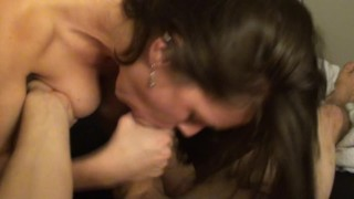 HD POV BJ Big-Titted Sexy Girlfriend Sucks Big 9 Inch Cock & Swallows Load!