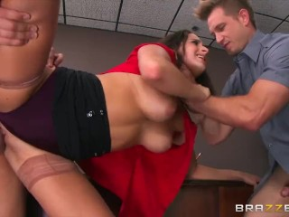 Ashley Adams gets pounded by two cops  - Brazzers