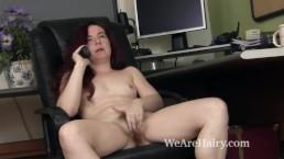 Annebelle Lee strips and masturbates after work