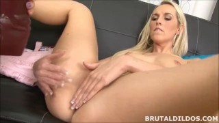 Freemovie Porn - Brutal Dildos - Big boobs Blonde Fucking Her Blonde Girlfriend With Two Massive Dildos In HD