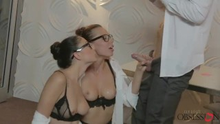 Babes - Whos the Boss Now, perfect office threesome