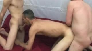 Breeding men threesome bareback groupsexgays