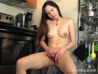 Brunette Cutie Katherine Masturbating