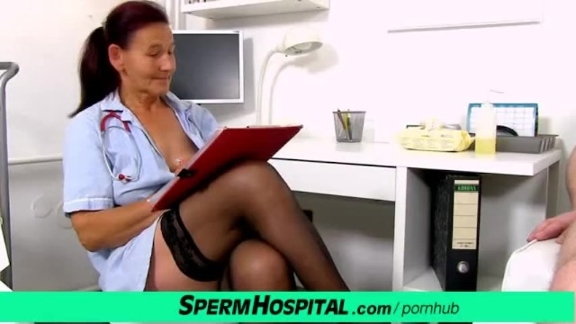 Medication for low sperm Oily handjob in medical centre feat. grandma linda as dirty doctor