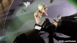 Behind the scenes on a PUBA set with Elsa Jean & Daisy Monroe