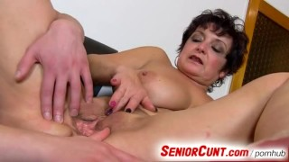 Xxx Tubes - Senior Cunt - Big boobs Old Cunt On Close-Ups Dirty Pussy Spreading With Lady Greta