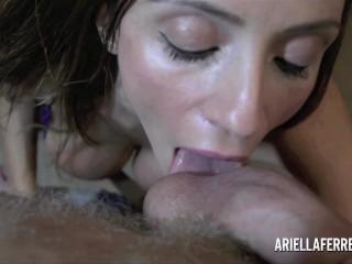 Ariella Ferrera hot POV Blowjob and Titjob