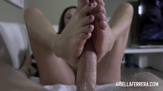 Ariella Ferrera hot POV Blowjob and Titjob