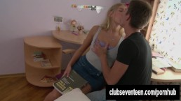 Blonde teen gets ass fucked