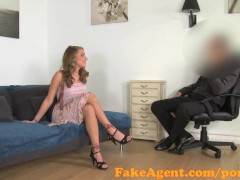 FakeAgent Horny amateur can't wait for cock in casting
