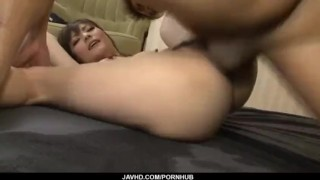 Busty Huwari pumped hard and creamed on pussy
