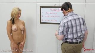 Painal School - Big-Ass Blond Gets it Rough Breasts voyeur