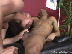 Shy latino gets his first black cock lesson