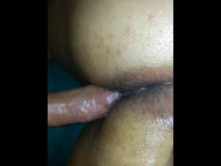 Latina cum in her pussy