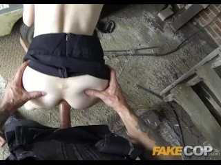Fake Cop Anal sex in the Barn Yard