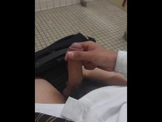 Jacking off at work