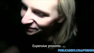 PublicAgent Sexy sisters finish off a second big cock for Xmas Johnson taboo