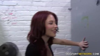 Jessica Ryan cheats her boyfriend in a gloryhole  big cock blowjob gloryhole pornstar cumshot fetish big dick hardcore handjob dogfartnetwork facial dogfartnetwork.com glory hole natural tits redhead cheating